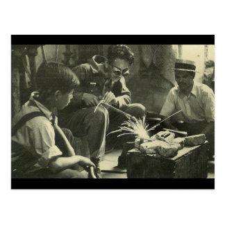 Vintage Workers Postcard