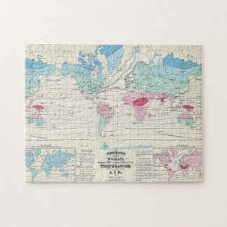 Vintage World Climate Map (1870) Jigsaw Puzzle