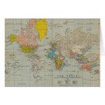 Vintage World Map 1910 Cards
