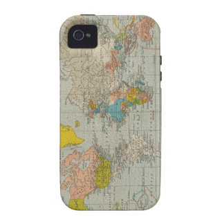 Vintage World Map 1910 Case-Mate iPhone 4 Case