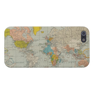 Vintage World Map 1910 iPhone 5 Case