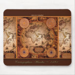 Vintage World Map Art Collection Mousemats