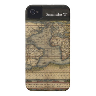 Vintage World Map Atlas Historical Design iPhone 4 Covers