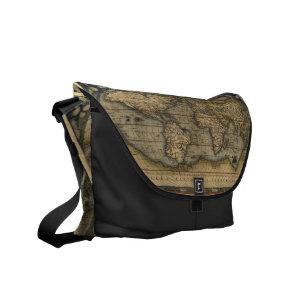 Map of world bags handbags zazzle vintage world map atlas historical design messenger bag gumiabroncs Image collections