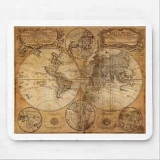 Vintage World Map Atlas Mouse Pad