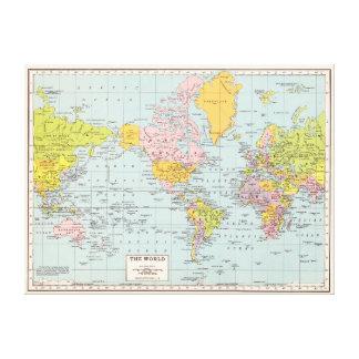 Vintage World Map Canvas Print