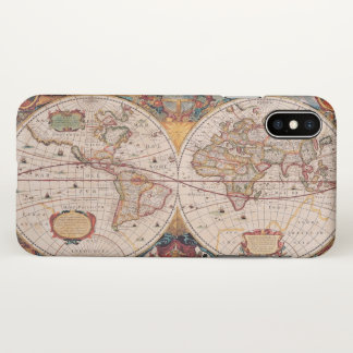 Vintage World Map Circa 1600 iPhone X Case