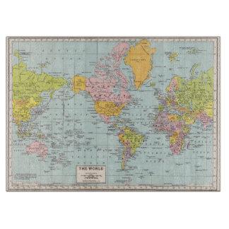 Vintage World Map cutting board