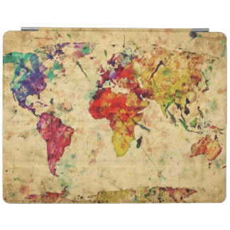 Vintage world map iPad cover