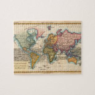 Old world map jigsaw puzzles zazzle vintage world map jigsaw puzzle gumiabroncs Choice Image