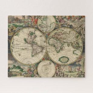 Antique World Map Puzzle.Old World Map Jigsaw Puzzles Zazzle Com Au