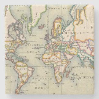 Vintage World Map Stone Coaster