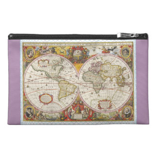Vintage World Map Travel Accessory Bags