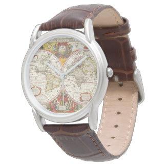 Vintage World Map Watch
