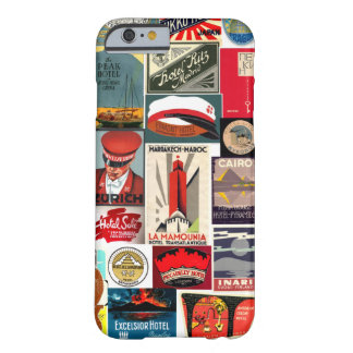 Vintage World Traveler Luggage Tags for iPhone 6 c Barely There iPhone 6 Case