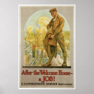 Vintage World War 1 Army Poster