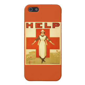 Vintage World War 1 Red Cross Nurse Poster iPhone 5/5S Cover