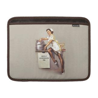 Vintage World War 2 PinUp Nurse Custom Name MacBook Sleeves