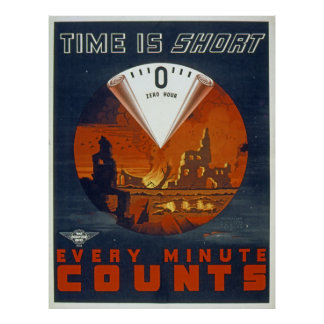 Vintage World War 2 -Zero Hour Poster