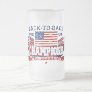 Vintage World War Champions Frosted Beer Mug