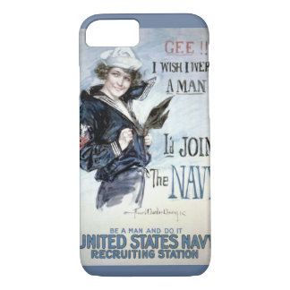 Vintage World War I Navy Recruiting Advertisement iPhone 7 Case