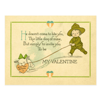 Vintage World War I Valentine Postcard