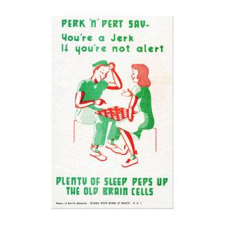 Vintage World War II Perk 'n Pert Checkers Sleep Canvas Print