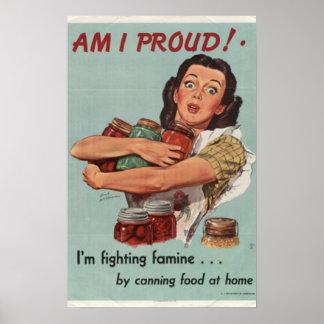 Vintage World War II Poster