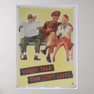 Vintage World War II poster. Poster