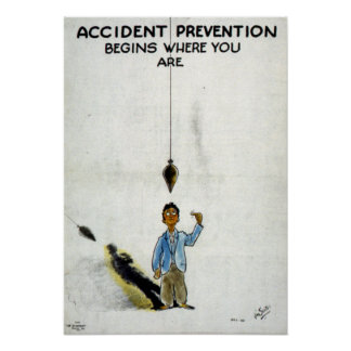 Vintage World War II Safety Poster