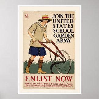 Vintage World War One Garden Poster