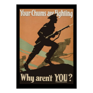 Vintage World War One Military Recruitment Poster