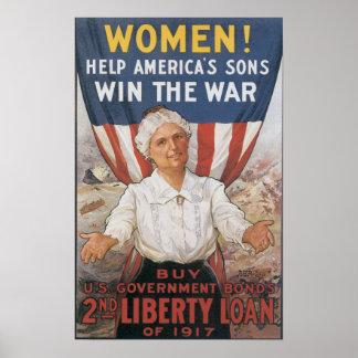 Vintage World War One Poster
