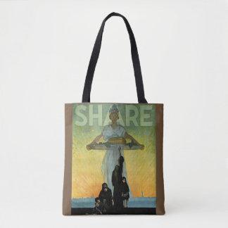 Vintage World War Share Poster Tote Bag