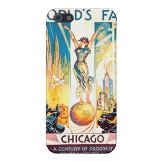 Vintage Worlds Fair Chicago Poster 1933 iPhone 5 Covers
