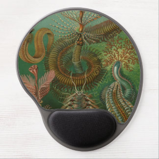 Vintage Worms Annelids Chaetopoda by Ernst Haeckel Gel Mousepad