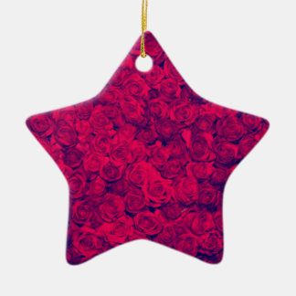 Vintage worn chic hipster textile deep red roses ornaments