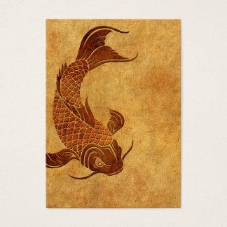 Vintage Worn Koi Fish Design Business Card