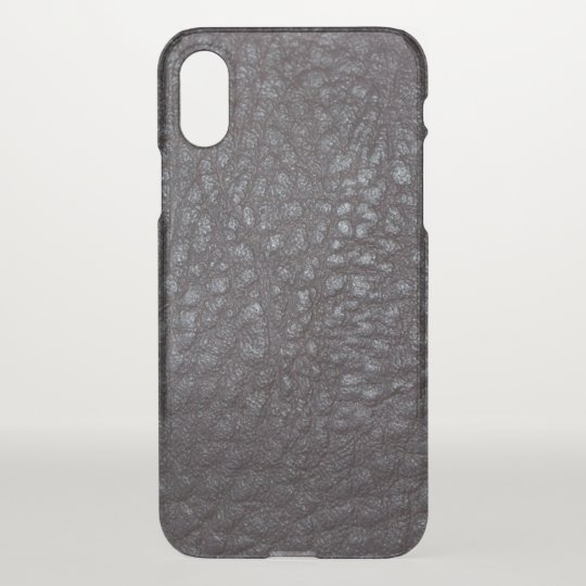 Vintage Worn Textured Black Leather iPhone X Case