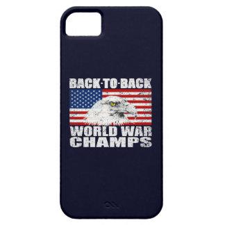 Vintage Worn World War Champs Eagle & US Flag iPhone 5 Case