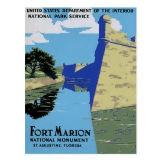 Vintage WPA Fort Marion Postcard