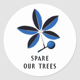 Vintage WPA - Spare Our Trees | Stickers