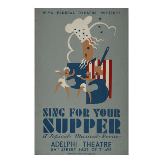 Vintage WPA Theatre Poster