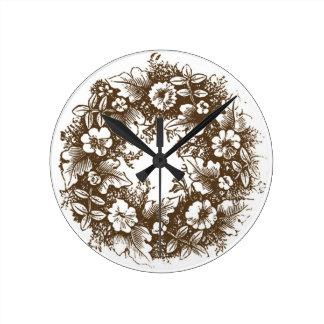 Vintage Wreath Clock