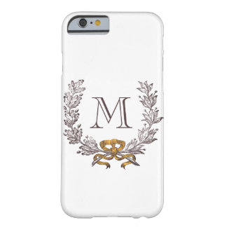 Vintage Wreath Personalized Monogram Initial Barely There iPhone 6 Case