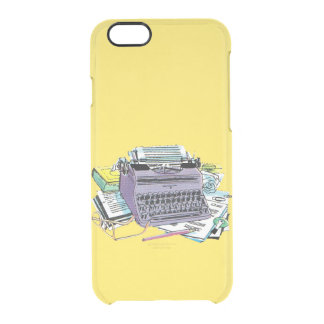 Vintage Writer's Tools Typewriter Paper Pencil Clear iPhone 6/6S Case