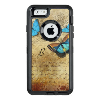 Vintage Writing and Butterflies OtterBox Defender iPhone Case