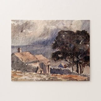 Vintage Wuthering Heights Bronte Landscape Jigsaw Puzzle