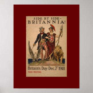 Vintage WW1 Brittania Poster