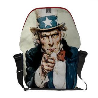 Vintage WW1 Patriotic Military Recruit Uncle Sam Commuter Bag